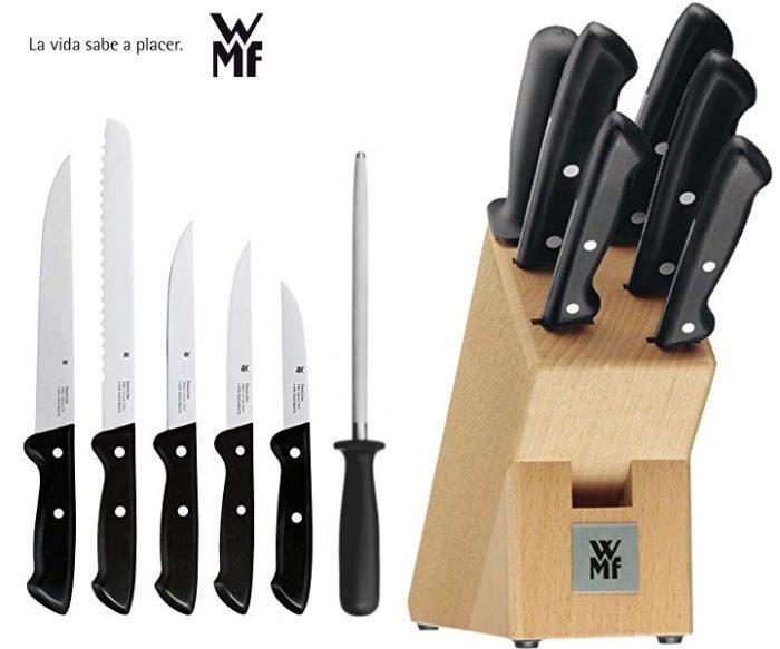 Set de cuchillos WMF Classic Line con bloque de madera