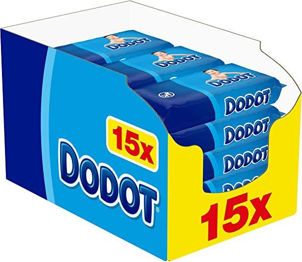 Pack de 15 paquetes de Toallitas Dodot (960 Toallitas)