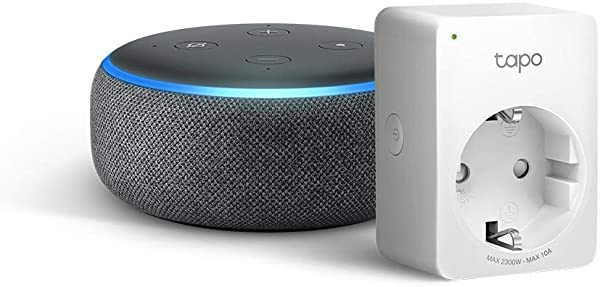 Echo Dot (3.ª generación) + Enchufe inteligente TP-Link Tapo P100