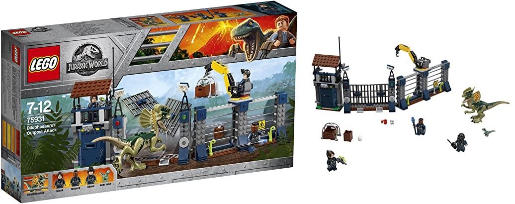 LEGO Jurassic World - Ataque del Dilofosaurio al Puesto de Vigilancia (75931)