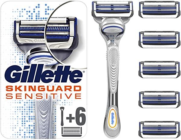 Maquinilla de Afeitar Gillette Skinguard Sensitive + 6 Recambios