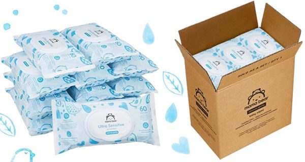 Pack 12 Paquetes Toallitas húmedas Mama Bear Ultra Sensitive