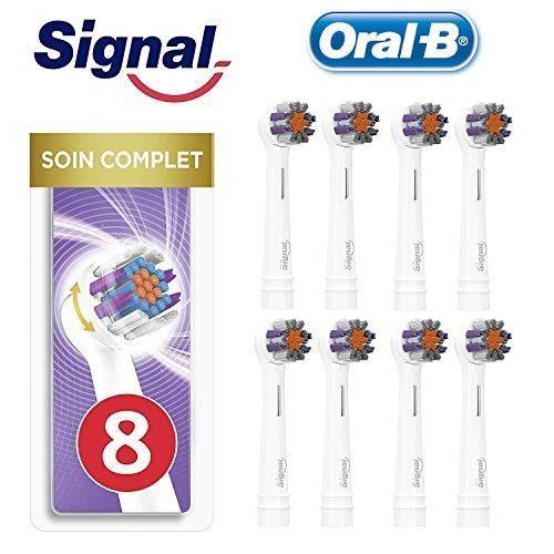 Pack de 8 cabezales de recambio Signal Integral compatibles con Oral-B