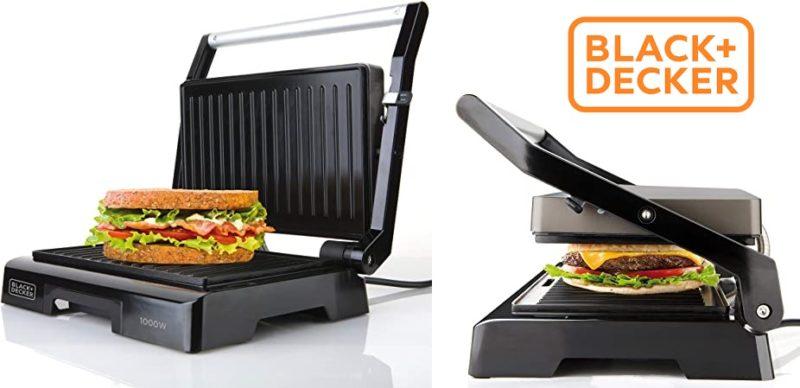Sandwichera Black&Decker BXGR1000E con Grill