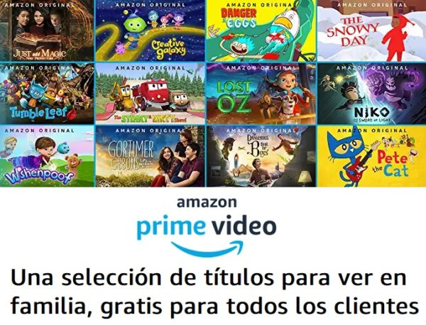 Selección de series infantiles gratis en Amazon Prime Video