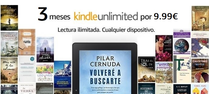 3 meses de lectura Kindle Unlimited