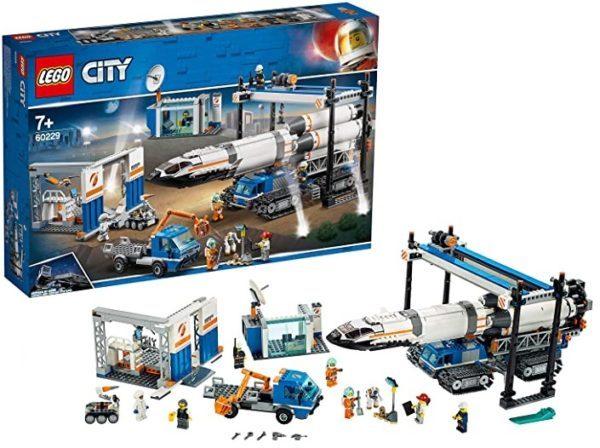 LEGO City Space Ensamblaje y Transporte del Cohete (60229)
