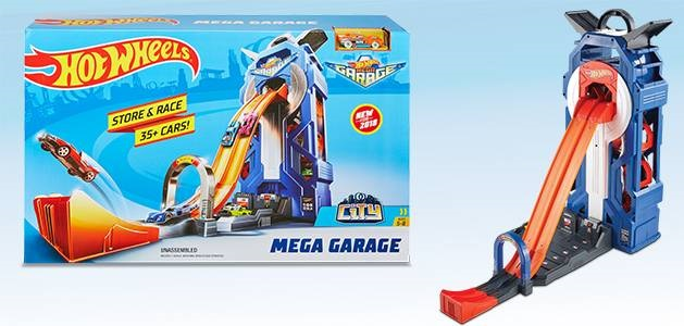 Mega garage Hot wheels para 35 coches