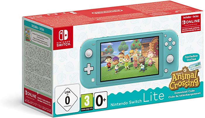 Nintendo Switch Lite Turquesa + Animal Crossing New Horizons + 3 meses Nintendo Shop Online