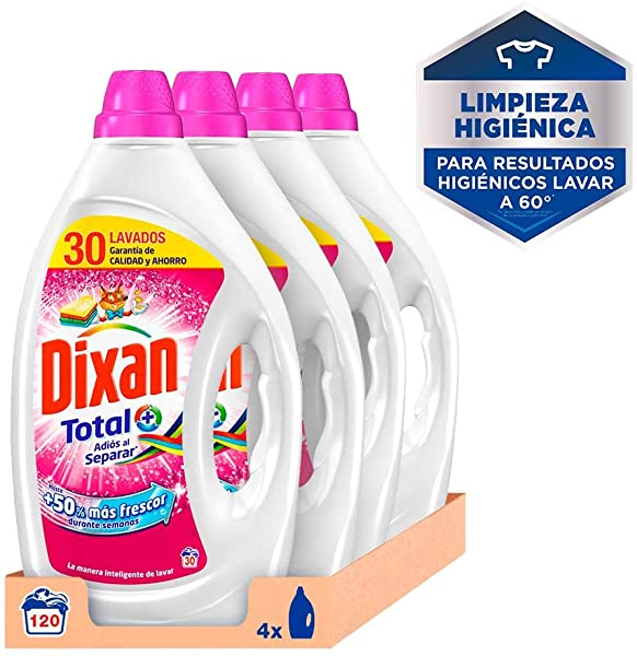 Pack 4 Detergente Líquido Dixan Total+ Adiós al Separar
