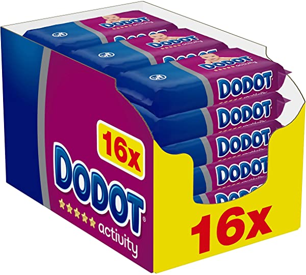Pack 16 paquetes de Toallitas DODOT activity