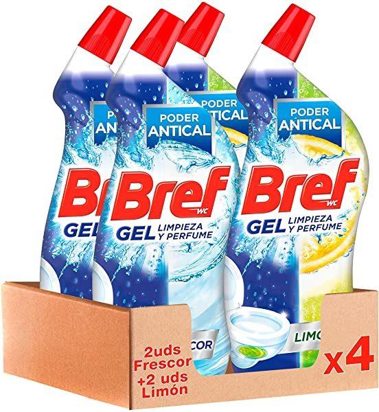 Pack 4 Bref WC Gel Limpieza y Perfume