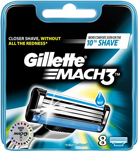 Pack 8 Gillette Mach3 Recambios