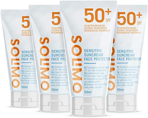 Pack de 4 Crema solar Solimo