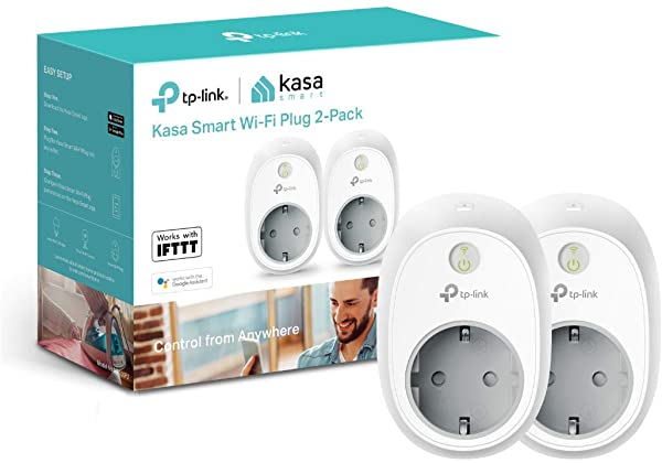 Set de 2 Enchufe inteligente TP-Link HS100P2