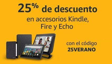 25% de descuento Accesorios Kindle, Fire y Echo
