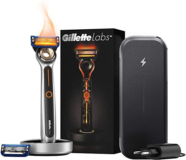 Gillette Labs Heated Razor + Estuche con Función de Carga