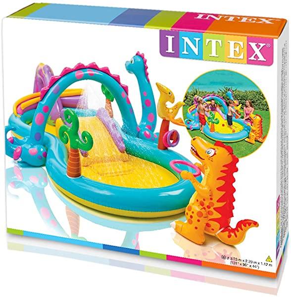 Intex 57135NP - Centro juegos hinchable dinos
