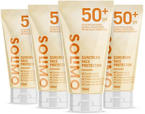 Pack de 4 Crema solar Solimo facial