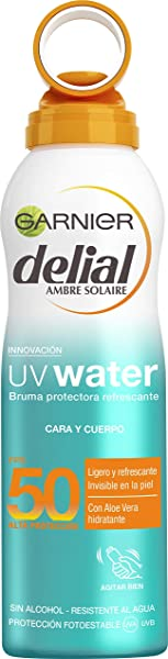 Bruma protectora Garnier Delial UV Water SPF 50