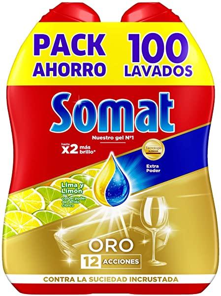 Lavavajillas Somat ORO Gel Anti-Grasa para 100 lavados