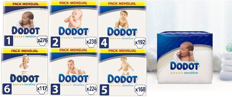 Pañales Dodot Sensitive packs mensuales baratos