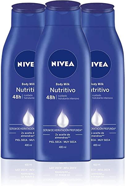 Pack 3 Nivea Body Milk Nutritivo