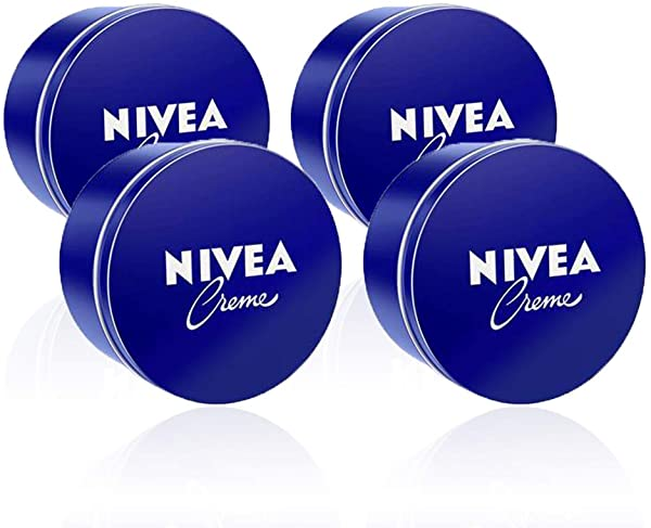 Pack de 4 latas NIVEA Crema hidratante de 400ml