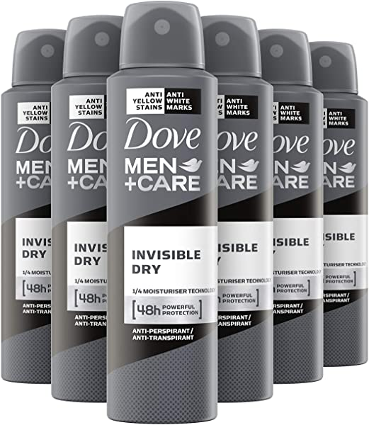 Pack de 6 Dove men+care Invisible Dry desodorante
