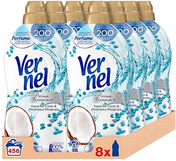 Pack de 8 Suavizante Vernel Aromaterapia Agua de Coco & Minerales