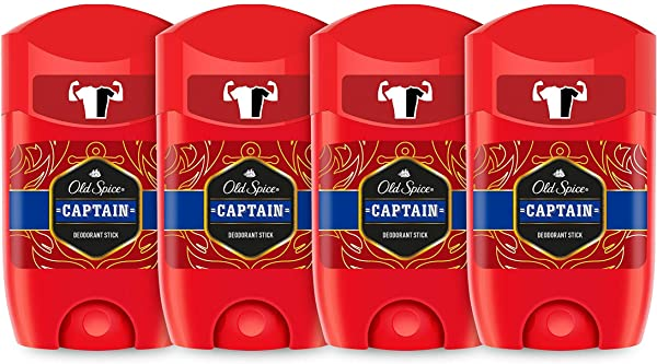 ¡Chollo! Pack 4 Desodorante Old Spice Captain en Stick