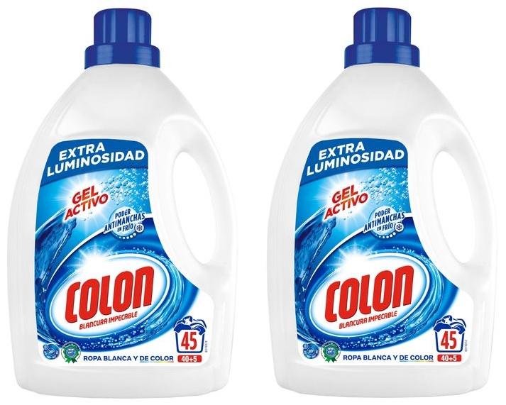 Colon Detergente Gel Pack de 2 (45 Lavados)