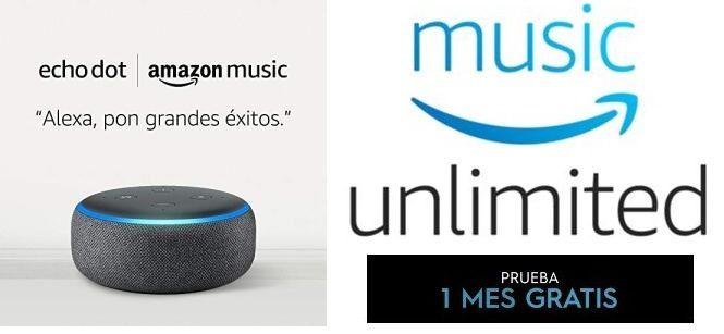 Echo Dot (3.ª generación) + 1 mes de Amazon Music Unlimited