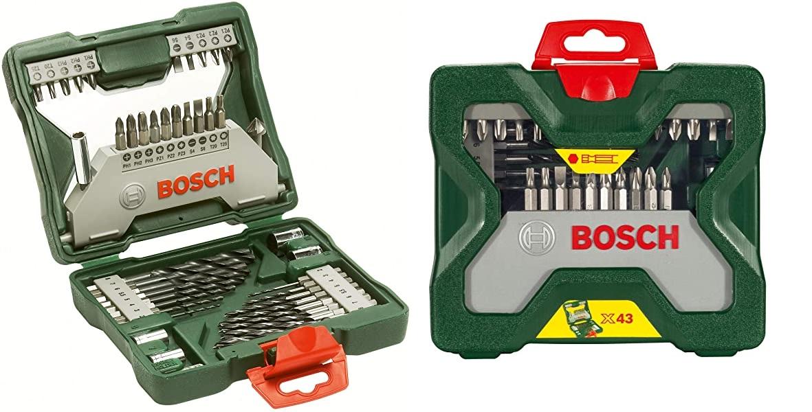 Maletín X-Line Titanio de Bosch con 43 accesorios para taladrar y atornillar