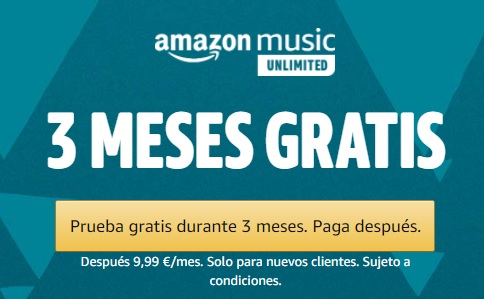 3 meses gratis Amazon Music Unlimited