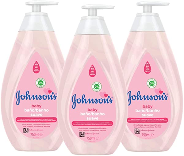 Pack 3 Gel de ducha Johnson's Baby Baño Suave