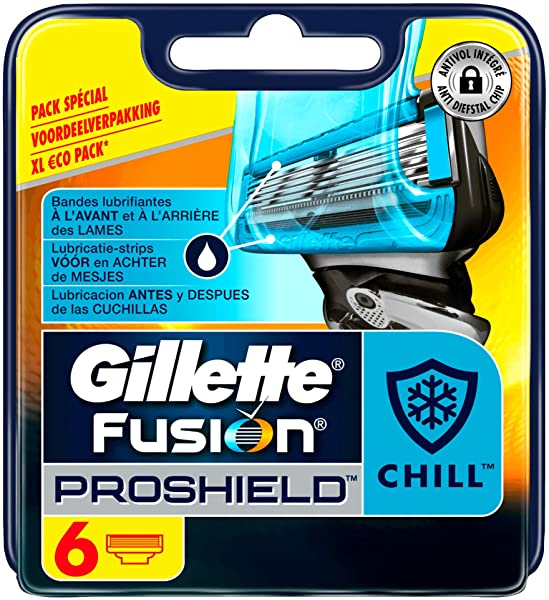 Pack 6 recambios Gillette Fusion ProShield Chill