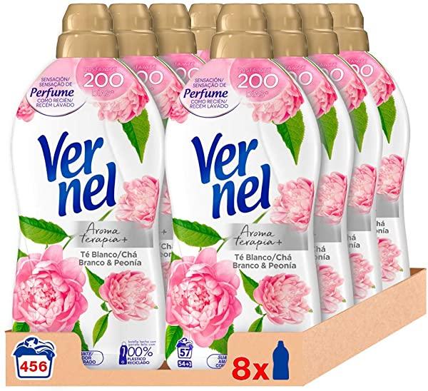 Pack de 8 Suavizante Vernel Aromaterapia Té & Peonía