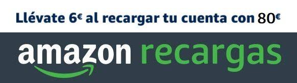 Llévate 6€ al recargar tu cuenta de Amazon