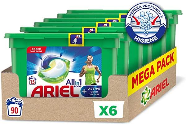 Ariel Allin1 Pods Active - Detergente 90