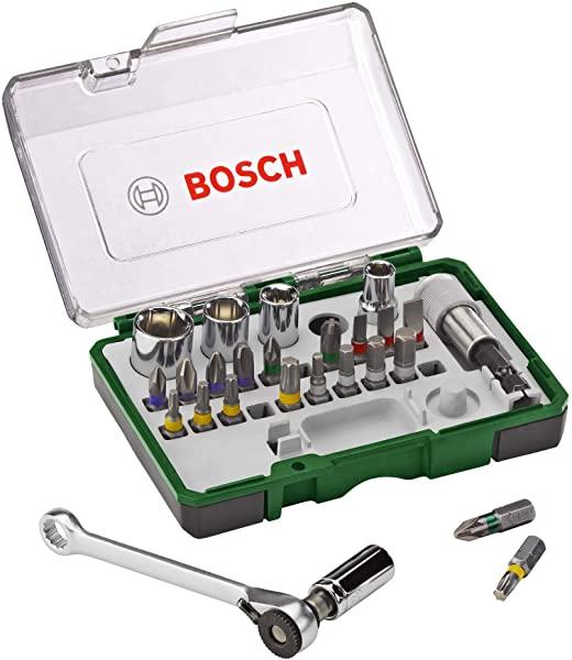Bosch 2607017160 set de 27 puntas de atornillar y carraca