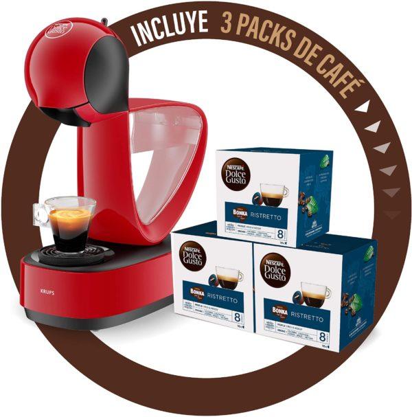 Cafetera Dolce Gusto Infinissima KP1705 + 3 packs de café