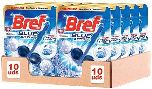 Pack de 10 Bref Blue Active Cesta Higiénica para WC
