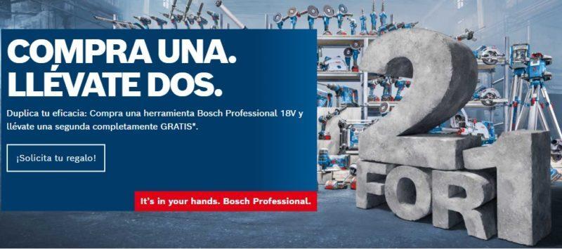 Compra una herramienta Bosch Professional 18V y llévate una segunda completamente GRATIS