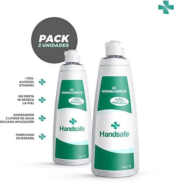 Handsafe Pack 2x500 ml Gel Hidroalcohólico