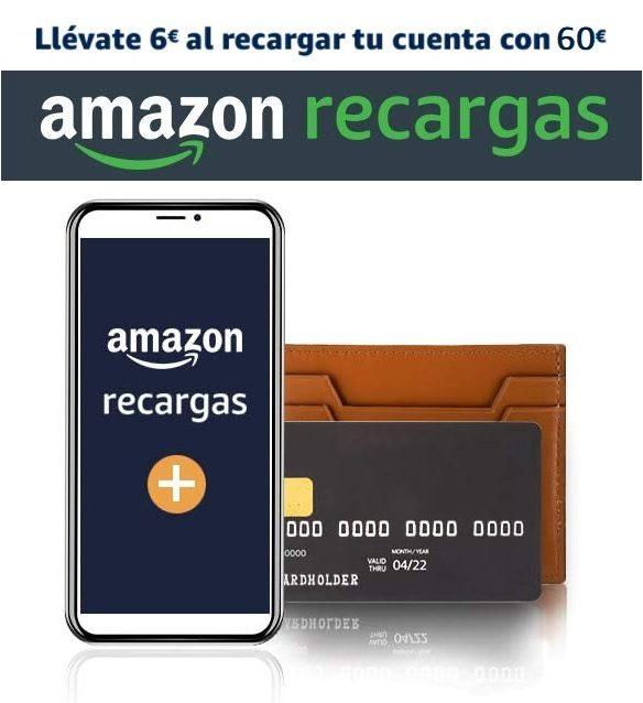 Llévate 6€ al recargar tu cuenta Amazon