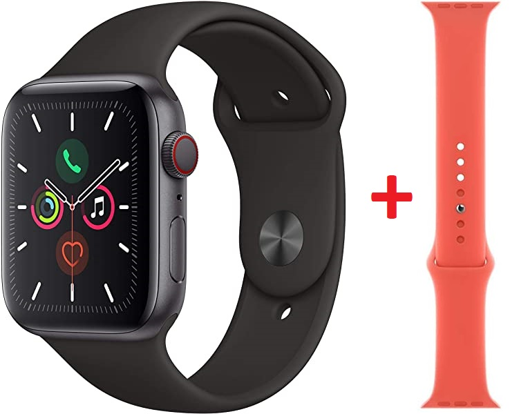 Apple Watch Series 5 (GPS + Cellular) de 44mm + 2ª correa gratis