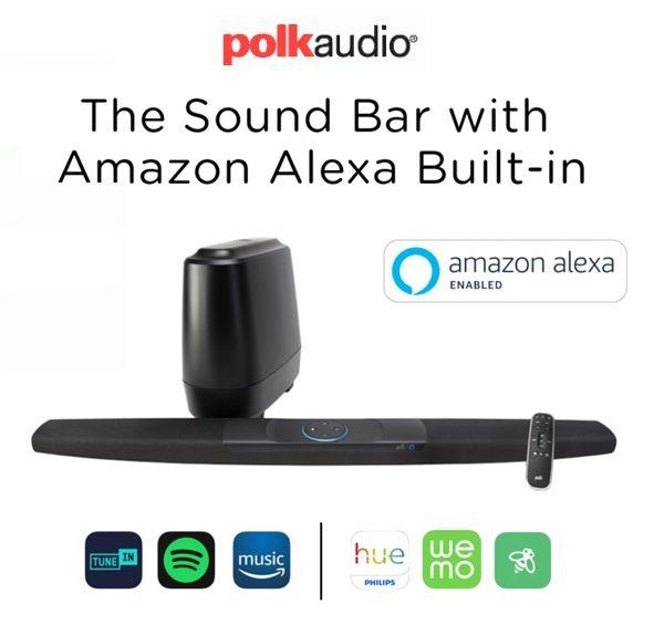 Barra de sonido Polk Command Bar con Alexa integrada