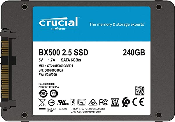 Crucial BX500 240 GB CT240BX500SSD1