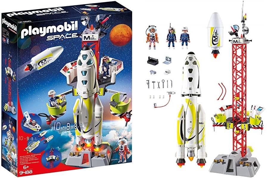 PLAYMOBIL Space - Cohete con Plataforma de Lanzamiento (9488)